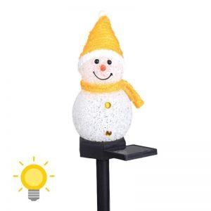 bonhomme de neige solaire led