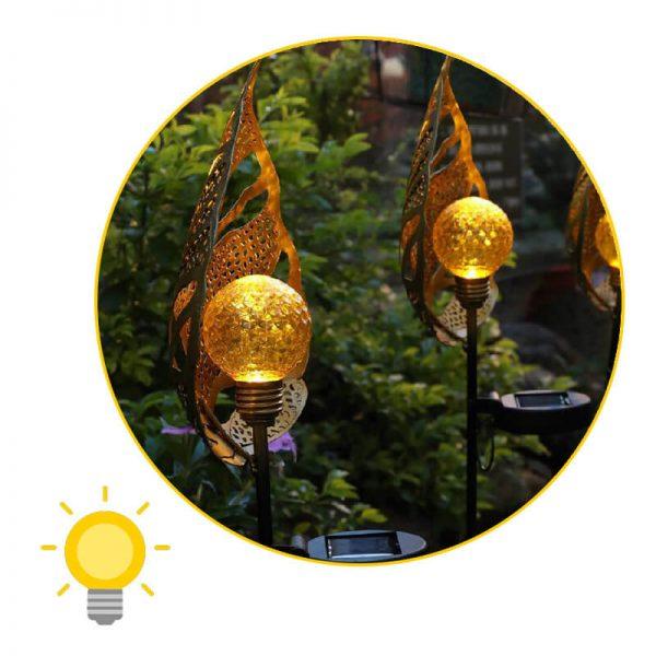 éclairage décoratif extérieur solaire