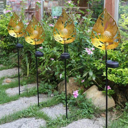 eclairage decoratif extérieur solaire metal