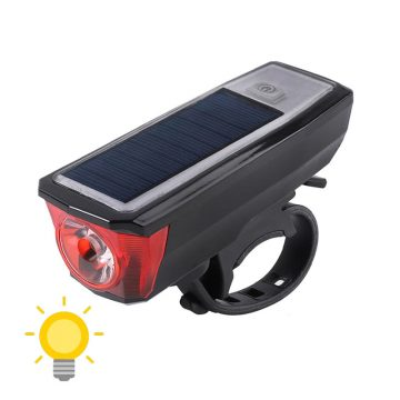 éclairage solaire pour vélo
