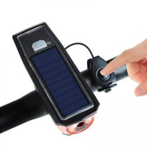 éclairage solaire pour vélo avec klaxon