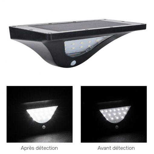 lampe exterieure solaire avec detecteur mouvement puissante