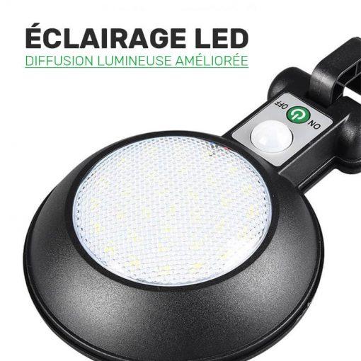 lampe solaire avec détecteur de mouvement pas cher led