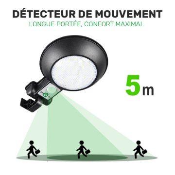 lampe solaire avec detecteur de mouvement pas chère puissante