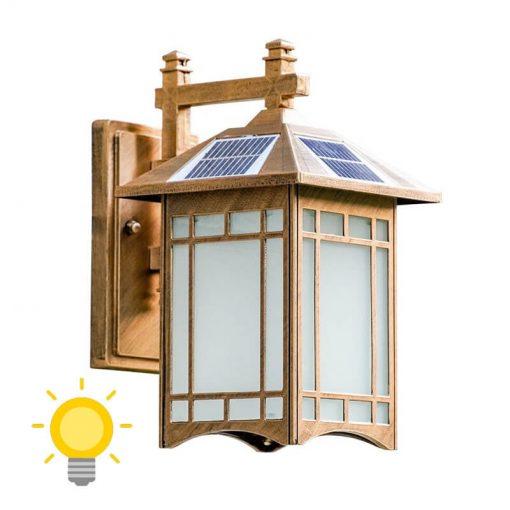 lampe solaire extérieur vintage