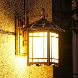lampe solaire extérieur vintage murale