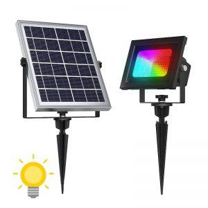 projecteur solaire couleur
