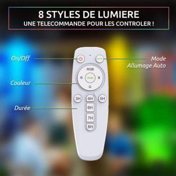 projecteur solaire couleur telecommande