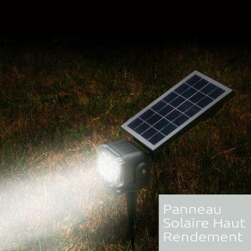 eclairage led jardin solaire exterieur