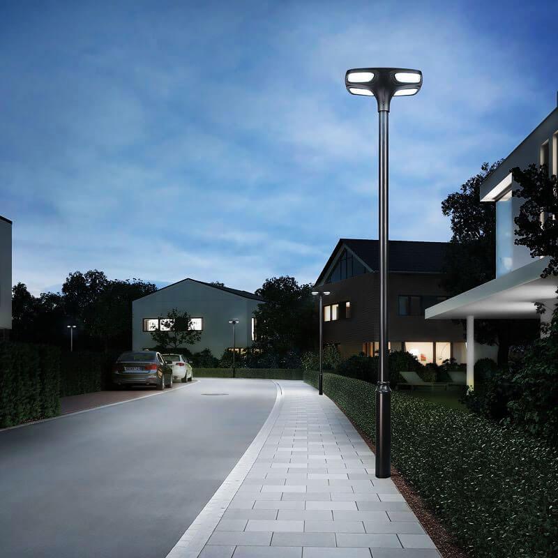lampadaire solaire pour lotissement etanche 1