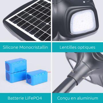 lampadaire solaire pour lotissement exterieur
