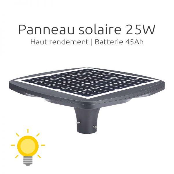 lampadaire solaire pour lotissement puissant