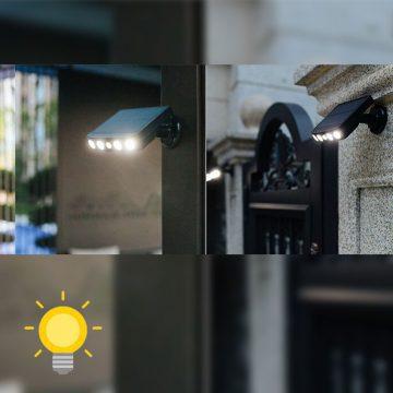 lampe radar extérieur solaire puissante