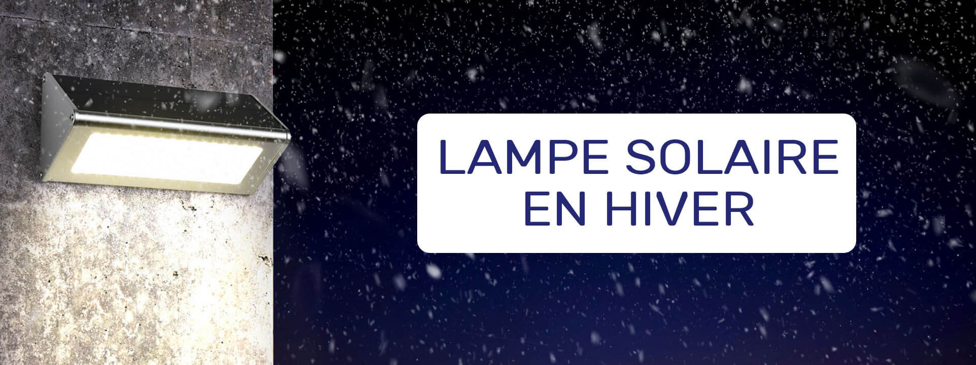 lampe solaire hiver