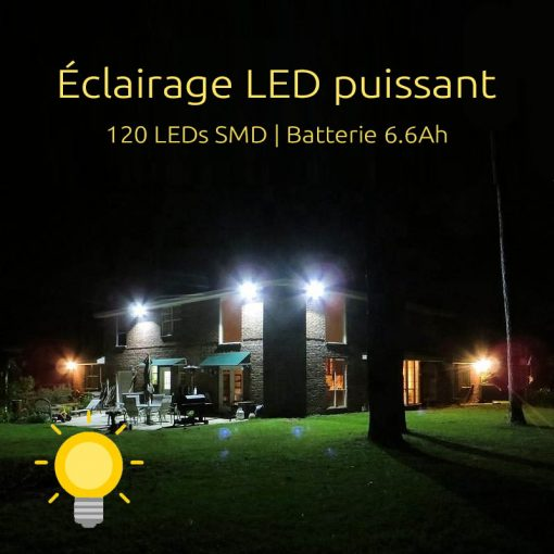 projecteur led exterieur solaire avec detecteur etanche