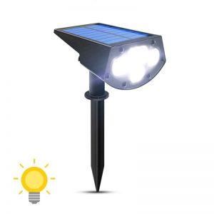 spot led avec panneau solaire