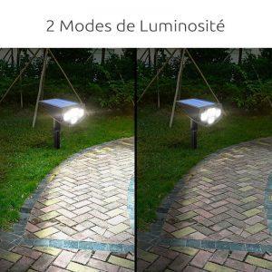 spot led avec panneau solaire autonome