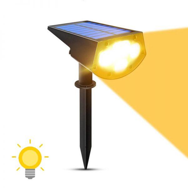 spot led avec panneau solaire chaud