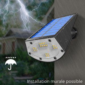 spot led avec panneau solaire jardin