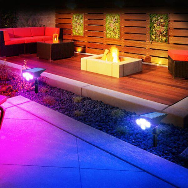 spot led exterieur couleur solaire autonome