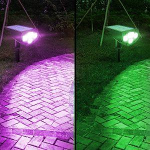 spot led exterieur couleur solaire jardin