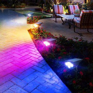 spot led exterieur couleur solaire puissant