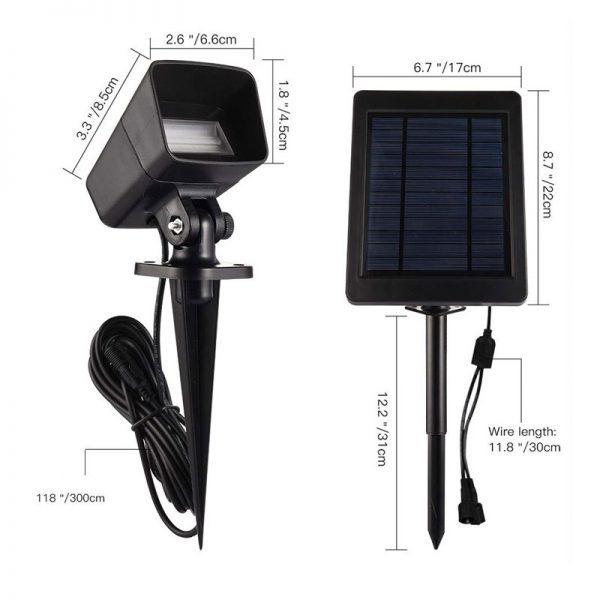 spot solaire puissant exterieur led