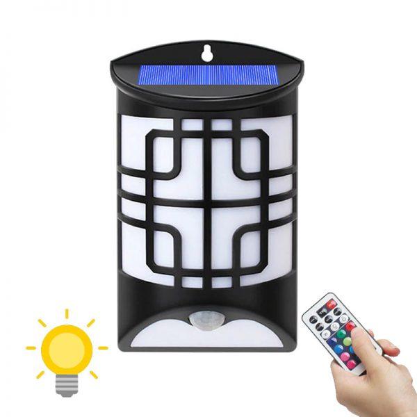 lampe couleur solaire avec detecteur de mouvement