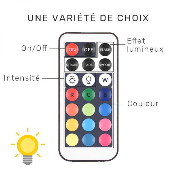 lampe couleur solaire avec detecteur de mouvement telecommande