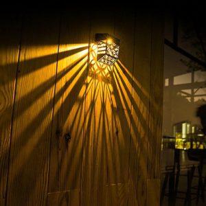 lampe deco exterieur solaire murale