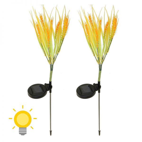 fleurs lumineuses solaires