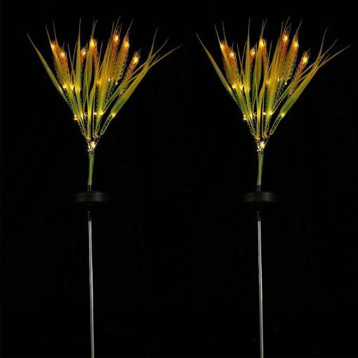 fleurs lumineuses solaires exterieur
