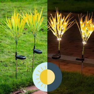 fleurs lumineuses solaires led