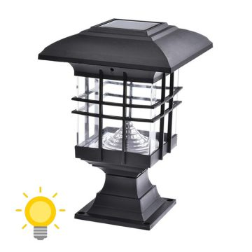 lampe solaire pour poteau de terrasse