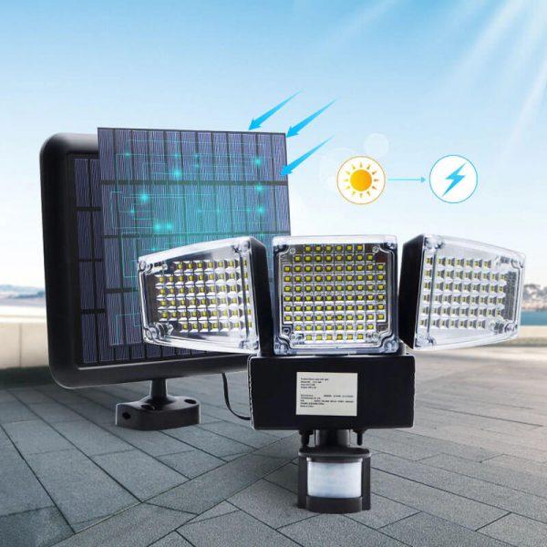 projecteur led avec detecteur de mouvement solaire jardin