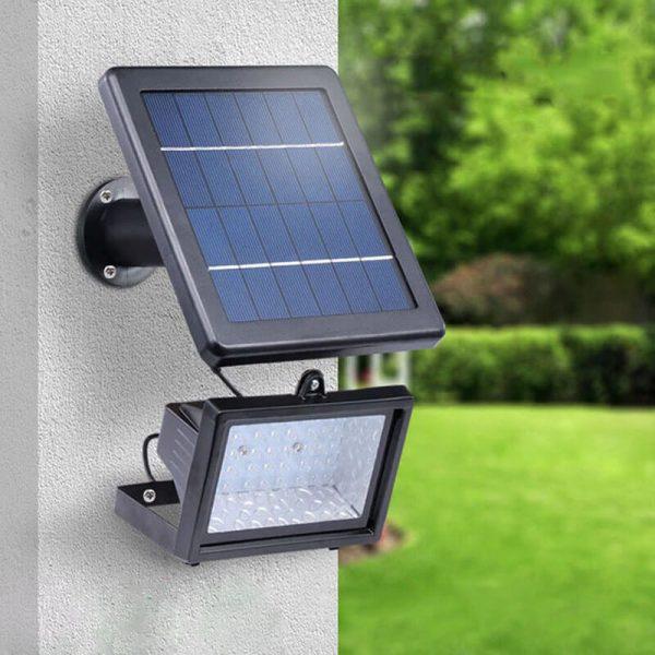 projecteur lumineux solaire jardin