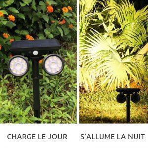 eclairage de jardin solaire efficace led