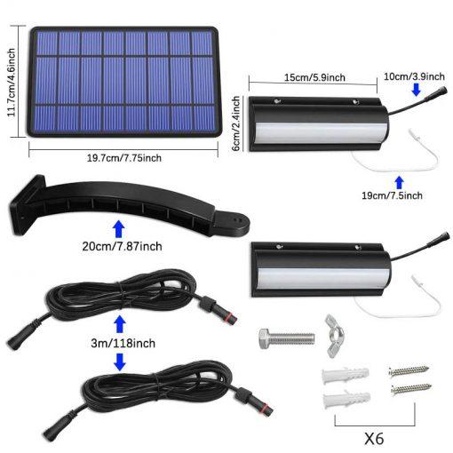 eclairage led solaire avec interrupteur terrasse