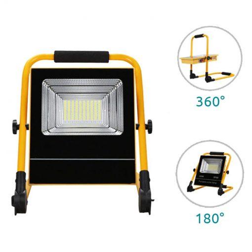 lampe de chantier solaire projecteur