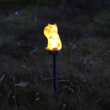 lampe solaire chat exterieur