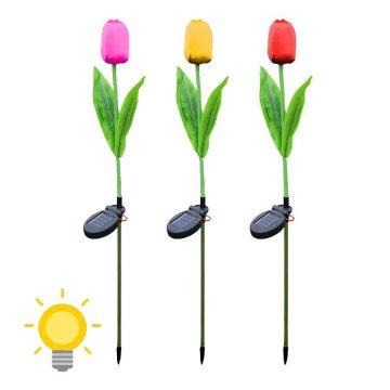lampe solaire tulipe