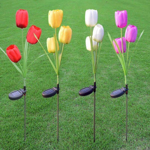 lampe solaire tulipe exterieur