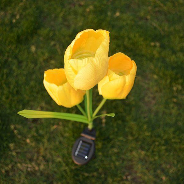 lampe solaire tulipe lumineuse