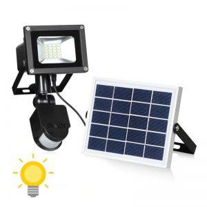projecteur led avec panneau solaire