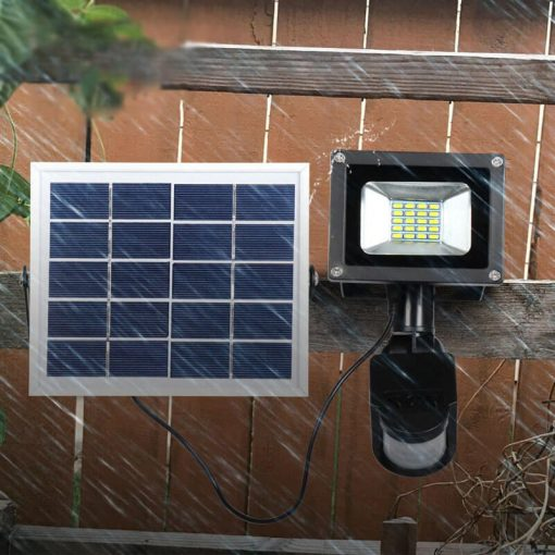 projecteur led avec panneau solaire exterieur