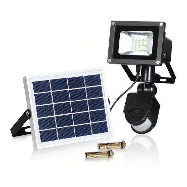 projecteur led avec panneau solaire pas cher