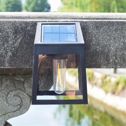 applique solaire exterieur retro jardin