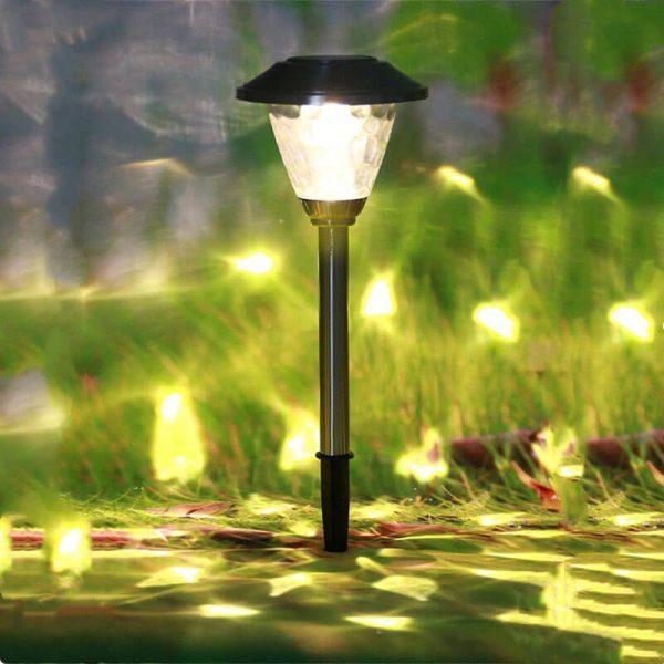 borne d eclairage solaire de jardin exterieur