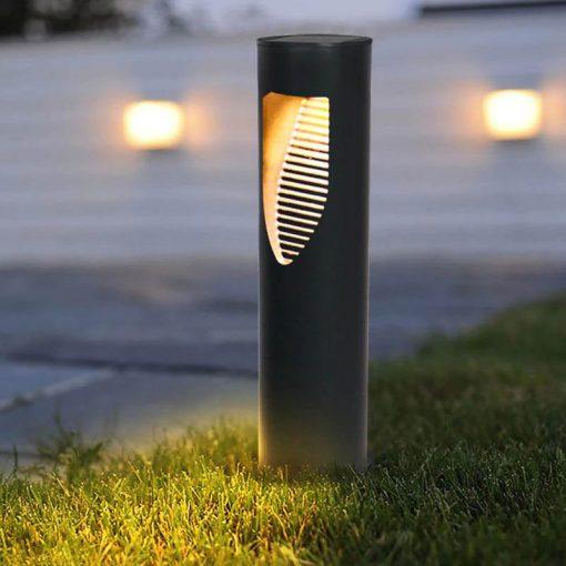 borne led extérieur solaire jardin