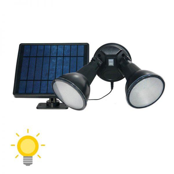 double projecteur led solaire